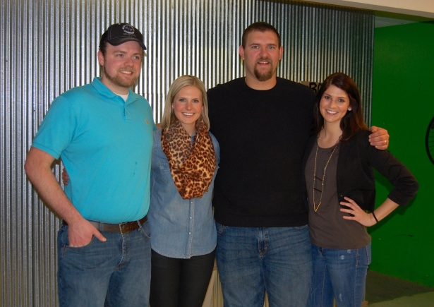 As a 5'9 girl, I never feel short.  This is Whitney and I with our first cousins, Chris and Matt.  I am the shortest… by a long shot.