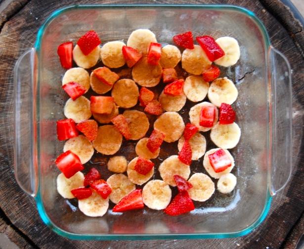 Pre-baked fruit