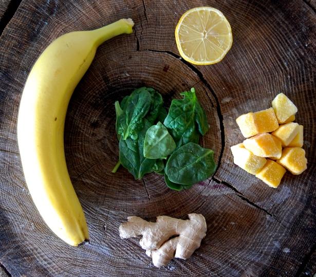 Spinach, Lemon, Ginger, Mango, Banana - Yogi Smoothie