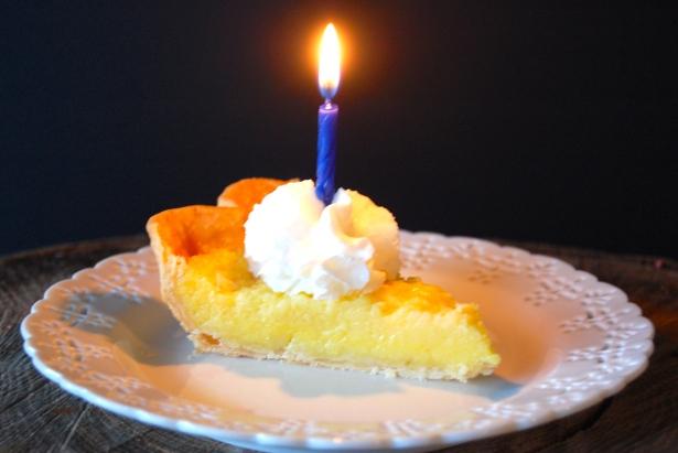 Birthday Buttermilk Pie