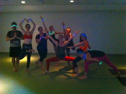 Birthday yoga!