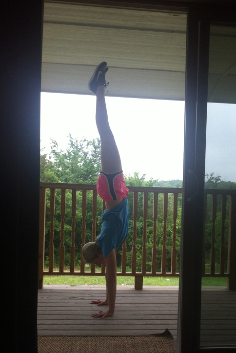 Handstands on the deck.