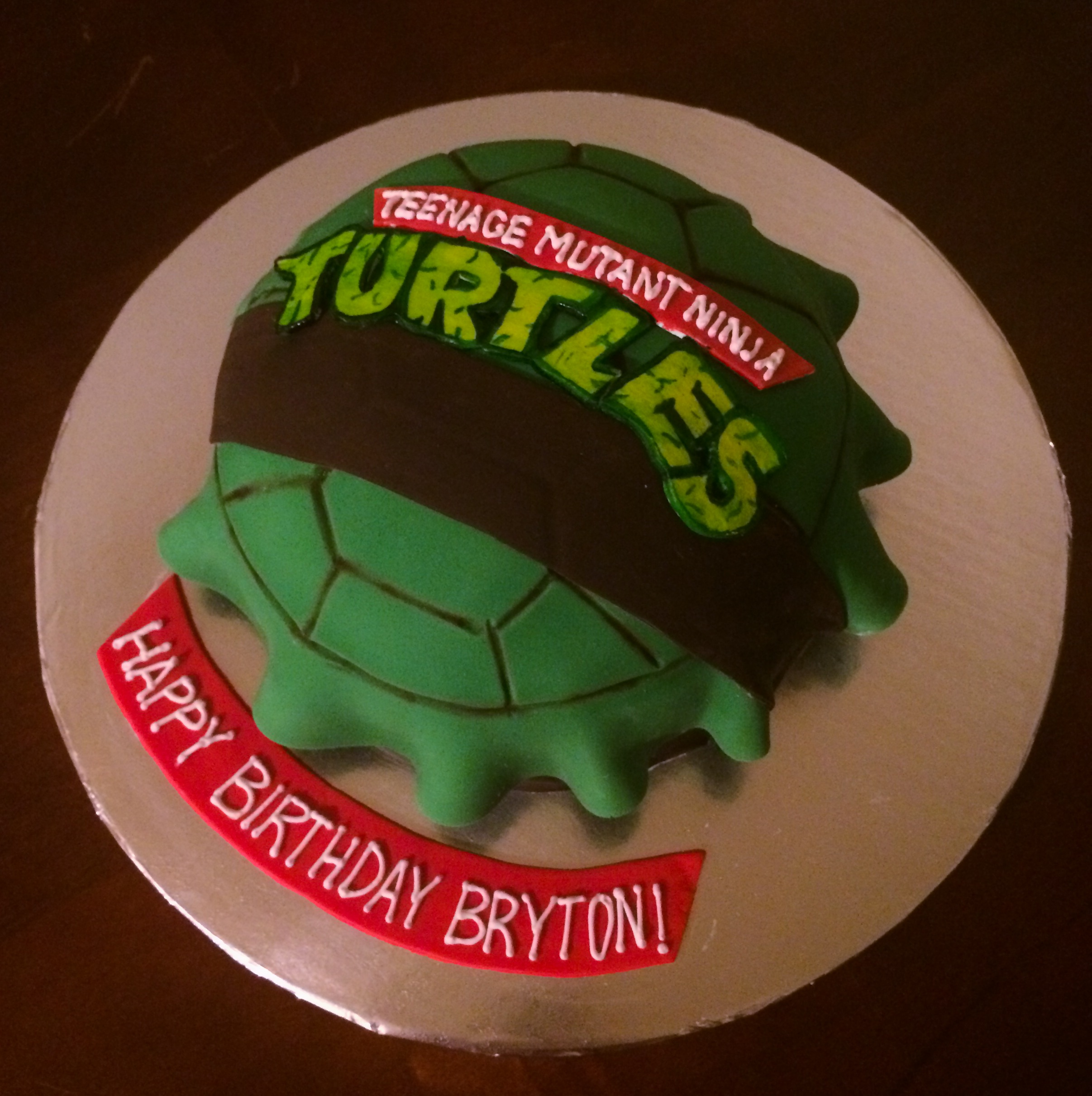 Ninja Turtle Shell Cake For The Turtle Shell Cake or