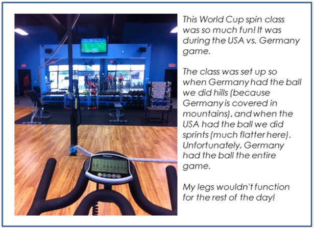 World Cup Spin Class!