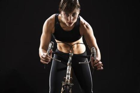 Rachel Buschert Vaziralli - Schwinn Master Instructor. Photo from her website.