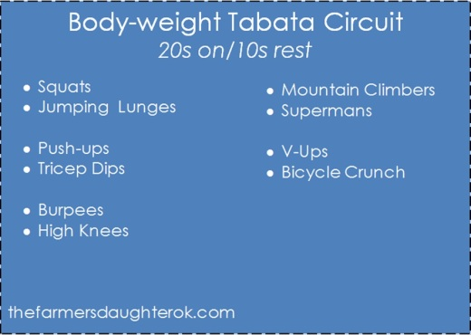 Tabata Workout - thefarmersdaughterok.com