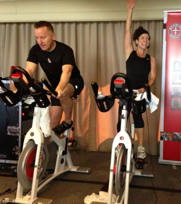 Jeffrey Scott & Julz Arney - 2 of Schwinn's Master Instructors. Great Instructors!