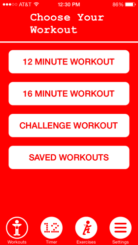 First - select your workout.